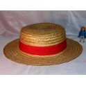 Canotier chapeau paille CAUSSADE vintage made in france