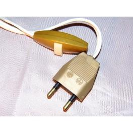 Lampe ancienne interrupteur prise fil électrique vintage