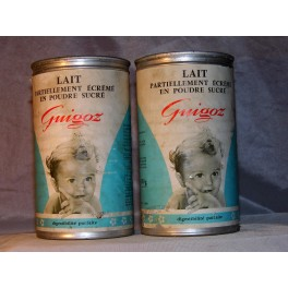 2 boites LAIT GUIGOZ Vintage années 60 aluminium