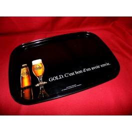 Plateau publicitaire biere GOLD brasserie bistrot vintage