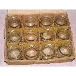 Ancien lot de 12 ventouses médicale verre moulé