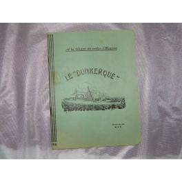 Cahier d'écolier LE DUNKERQUE bateau guerre marine
