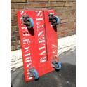 Planche à roulettes industrielle plateau vintage roulant loft