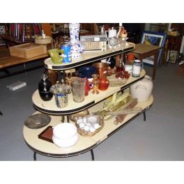 Présentoir magasin jouet  vintage gondole métallique commerce
