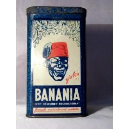 BOITE BANANIA ancienne bleue 17 cm  vintage