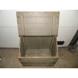 Coffre malle meuble rangement jouet bar bois kaki vintage antiquité industrielle