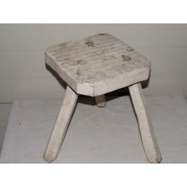 Tabouret bois vintage ancien siege meuble tripode antiquité