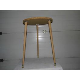 Table d'appoint meuble vintage sellette tripode années 50