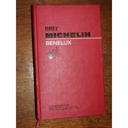 Guide MICHELIN 1987 Bénélux belgique hollande luxembourg
