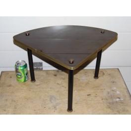 Tablette salon formica marron meuble d'angle tripode années 60
