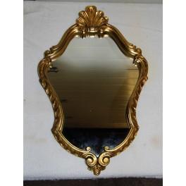 Miroir dorure or coquille st jacques BAROQUE glace vintage