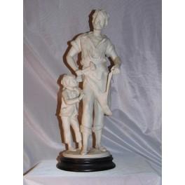 Sculpture forgeron grande statue moreau enclume déco vintage