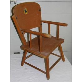Fauteuil vintage chaise enfant bois hetre chaise bureau salon chambre rétro