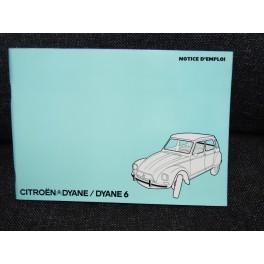 Citroen DYANE dyane 6 Notice Juillet 1974 Revue technique voiture ancienne vintage TBE