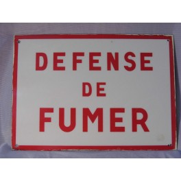 Plaque industrielle vintage Panneau NE PAS FUMER usine atelier design loft