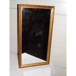Miroir dorure or rectangulaire glace sculptée