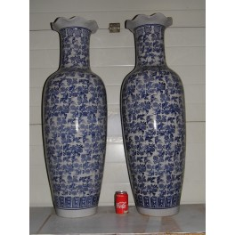 Paire de grands vases gré céramique déco intérieur extérieur