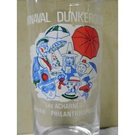 Lot de 6 verres publicitaires carnaval de dunkerque les acharnés reuze collection vintage