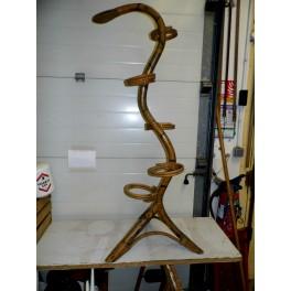 Porte plante vintage bambou osier années 50 60 serpent