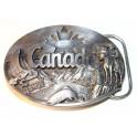 Boucle ceinturon CANADA 1990 ceinture aigle peche feuille érable drapeau canadien