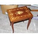 Table musicale boite à musique mouvement MAPSA boite à bijoux vintage marqueterie