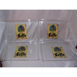4 Plateaux publicitaire ABBAYE DE LEFFE café biere bistrot brasserie vintage