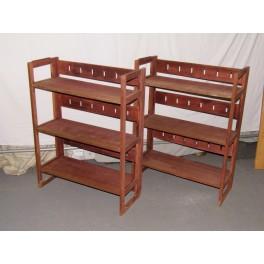 2 étageres pliables et empilable présentoir magasin bois mobilier meuble