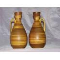Paire de vases vintage BAY Germany céramique années 60 Vallauris blin