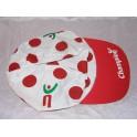 Casquette velo ancien  CHAMPION casquette à pois cyclisme tour de France Virenque