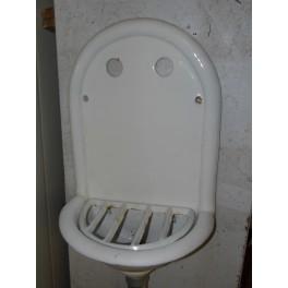 Fontaine émaillée vintage lavabo art déco ancien évier mobilier maison bistro café