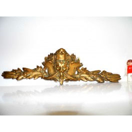 ancien fronton bronze lion bronze ornement  fronton