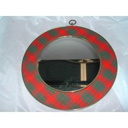 Rare miroir rond glace ecossais vintage loft