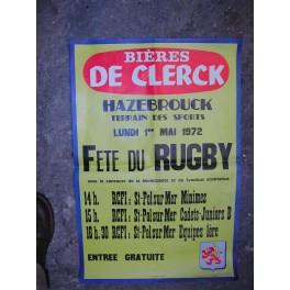 Affiche BRASSERIE DE CLERCK HAZEBROUCK FLANDRE