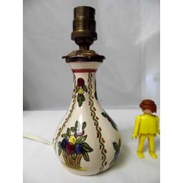 lampe chevet faience céramique vintage