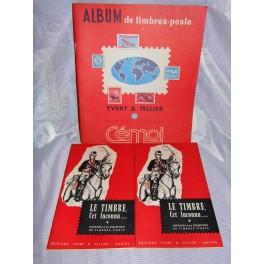 lot Album timbre yvert et tellier chocolat cemoi
