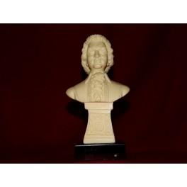 Buste MOZART marbre noir musicien vintage musique