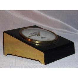 Pendule publicitaire horlogerie GIP pendulette bureau établissement PIOLE PAROLAI FEUQUIERES