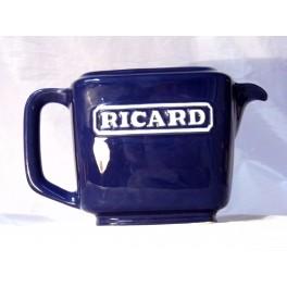 Pichet RICARD 1 litre cruche bleu royal carafe vintage anisette céramique